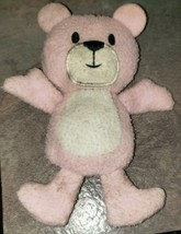 "Tiny Pink White Bear Lost Lovey 2013 Well Worn Plush 4"" Stuffed Animal Toy - $9.90"