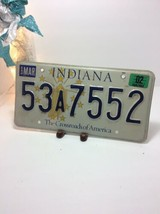 Vintage Indiana License Plate -  - Single Plate 2002 - $16.82