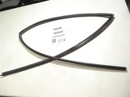 1993-1997 Toyota Corolla Seal Rubber Rear Right Rail Guide Window Glass Feo B274 - $27.96
