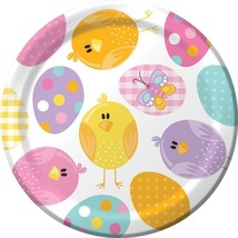 "Easter Picnic 8 Ct 7"" Dessert Plates Spring Party Bunny Chick - $3.59"