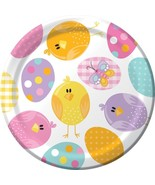 """Easter Picnic 8 Ct 7"""" Dessert Plates Spring Party Bunny Chick - $3.59"""