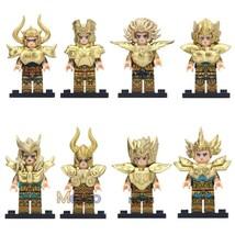 8pcs/set Saint Seiya Minifigures The Gold Saints of Athena Lego Toy Gift - $1.99