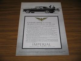 1961 Print Ad 1962 Chrysler Imperial LeBaron Four-Door Southampton 2 Men in Suit - $12.54