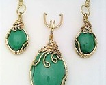 Turquoise gold wire wrap pendant earrings set 4 thumb155 crop