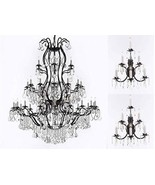 Set of 3-2 Wrought Iron Wall Sconce Crystal Lighting 3 Tier Wall Sconces... - $1,223.29