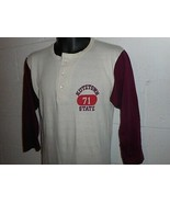 Vintage 70s Champion Kutztown State University Pennsylvania Henley T-Shi... - $99.99
