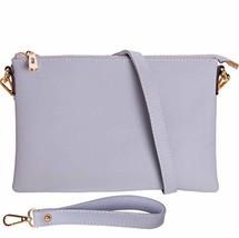 Humble Chic Vegan Leather Crossbody Tablet Purse - Convertible (Lavender) - $43.49