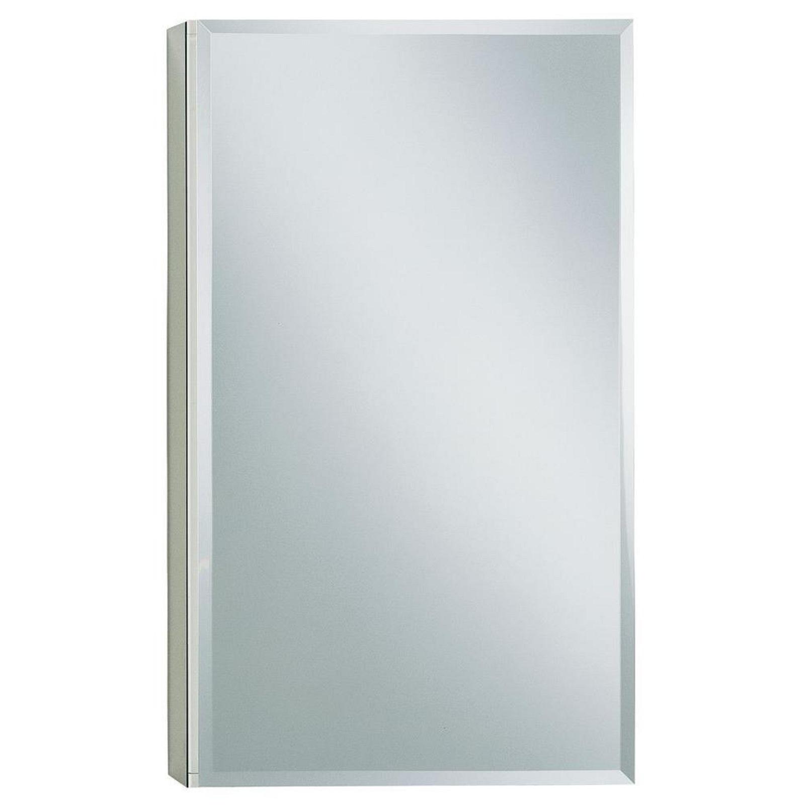 Medicine Storage Cabinet with Mirrored Interior Aluminum Toiletries Makeup Rack