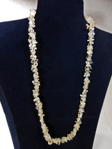 """Tumbled Clear Quartz Necklace 20.5"""" w/Gold Plated Slide In Hook Clasp - $5.00"""