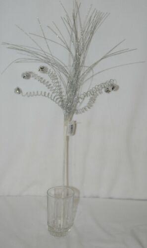 Unbranded  XS6O3292 SIlver White Jingle Bells Onion Grass Spray
