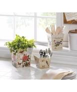 Set of 3 Butterflies, Birds, Botanical Themed Planters, Flower Pots - $24.20