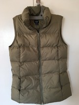 Womens The Gap Green Olive Vest Jacket Quilted Zipper Size XS - €14,11 EUR