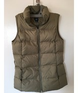 Womens The Gap Green Olive Vest Jacket Quilted Zipper Size XS - $16.83