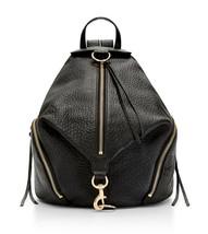 Nwt Rebecca Minkoff Julian Backpack 100% Leather Clasp Gold Black HS16IBLB01 - $287.10