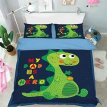 3D Cute Dinosaur Bed Pillowcases Quilt Duvet Cover Set Single Queen King... - $64.32+
