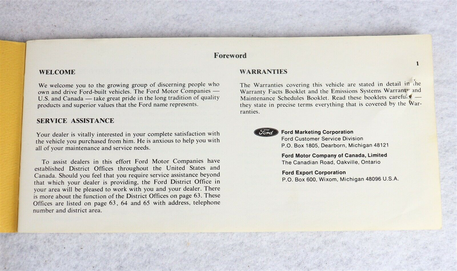 1973 Mercury Comet Owner's Manual
