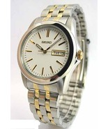 Seiko men watch 7N42 casual stainless steel SGG695 - $116.82