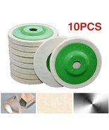 10pcs/set Round Durable Wool Grinding Pad 100mm Polishing Poly Strip Dis... - $10.13
