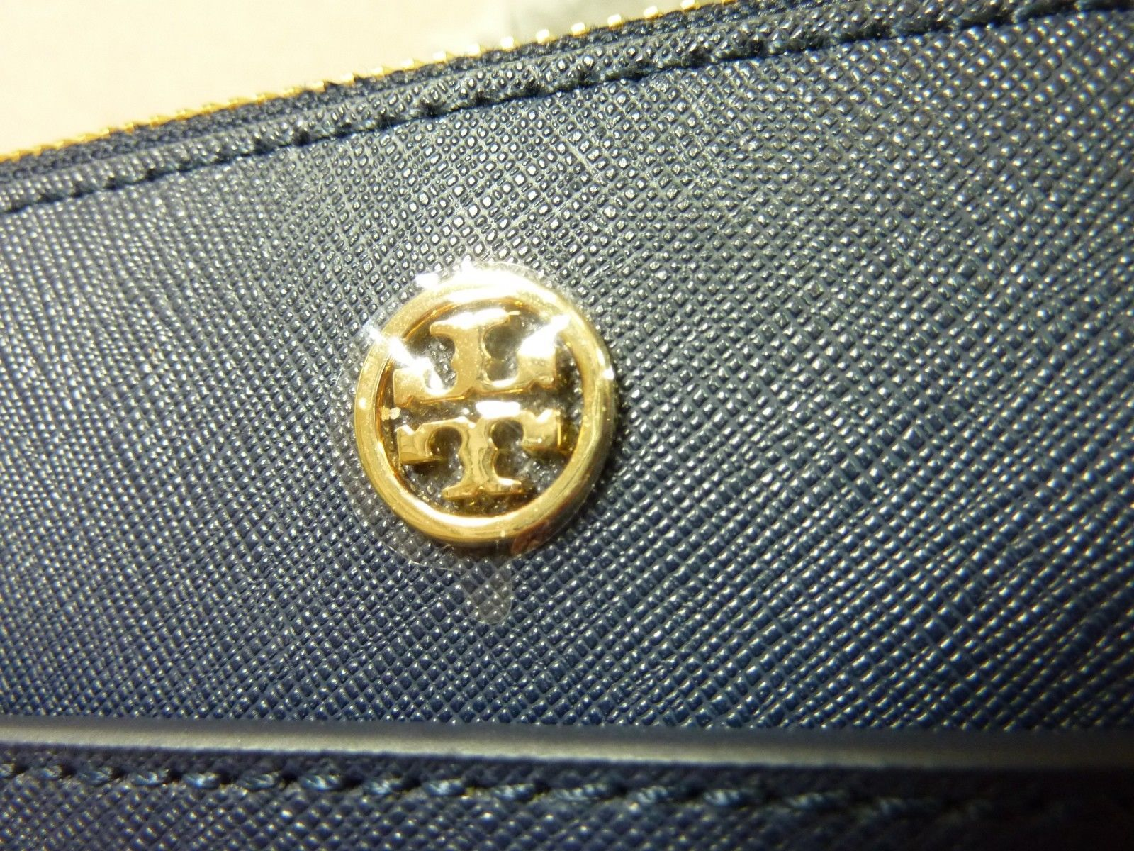 Tory Burch Navy Blue Saffiano Leather Robinson Double-Zip Tote $458 image 9