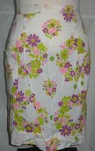 VINTAGE Half Apron Colorful Flower Design 2 Pockets - $17.75
