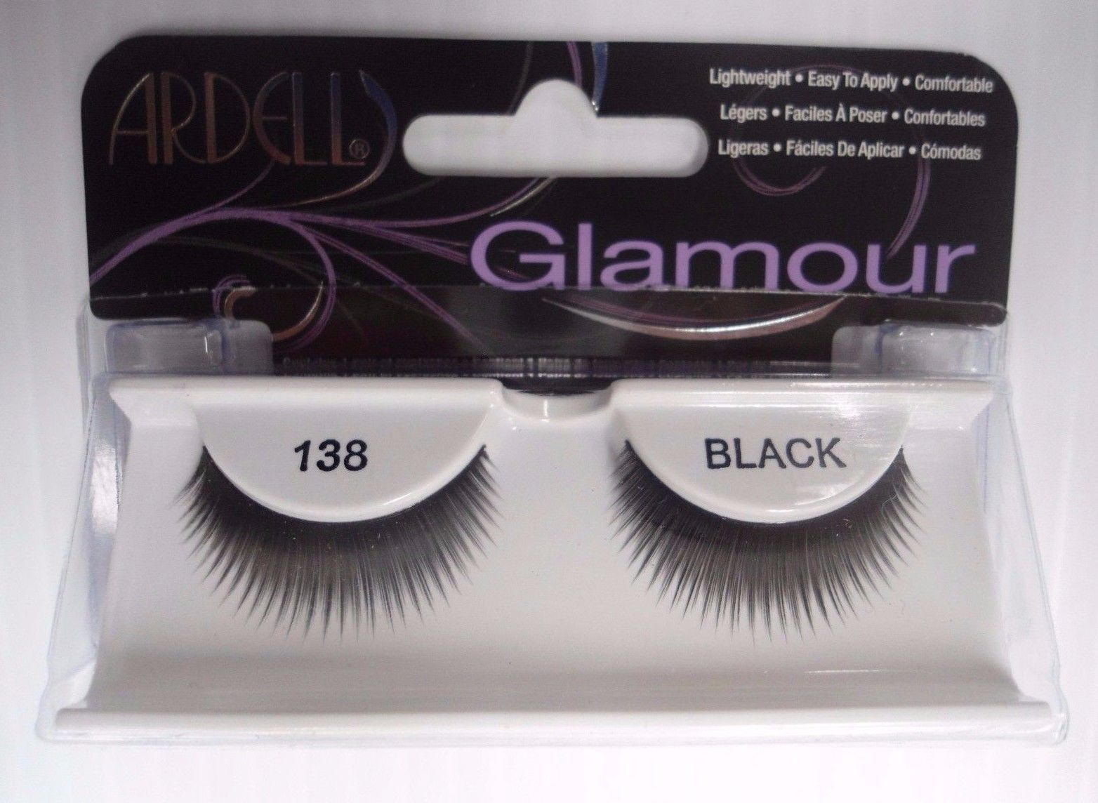 Primary image for Ardell Strip Lashes Glamour Style 138 Black (Pack of 6)