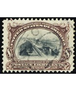 298, Used XF 8¢ Panama Canal Stamp GEM QUALITY - Stuart Katz - $75.00