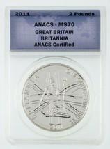 2011 Großbritannien 0,9 kg Silber Britannia Ausgewählten von Anacs As MS-70 - $49.50