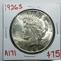 1926S Peace SILVER $1 DOLLAR Coin Lot# A 171