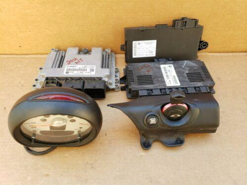 2012 Mini Cooper R56 DME ECU ECM EKS CAS3 Eng Computer Ignition Switch Fob Tach