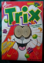 Vtg 1993 General Mills Trix Lenticular Hypnotic Eyes Sealed Box Shrink F... - $18.99