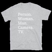 person woman man camera tv / person woman man camera tv T-Shirt image 11