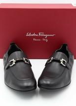 NIB Salvatore Ferragamo Celso Black Leather Gancini Bit Slip-On Loafers 11 E - $345.00
