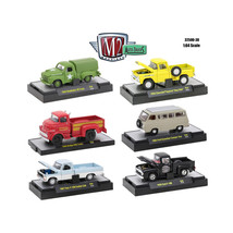 Auto Trucks 6 Piece Set Release 38 IN DISPLAY CASES 1/64 Diecast Model C... - $54.06