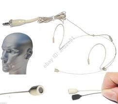"4x Double Hook head worn Microphone for Sennheiser Stereo 1/8"" Screw Lock - $77.12"