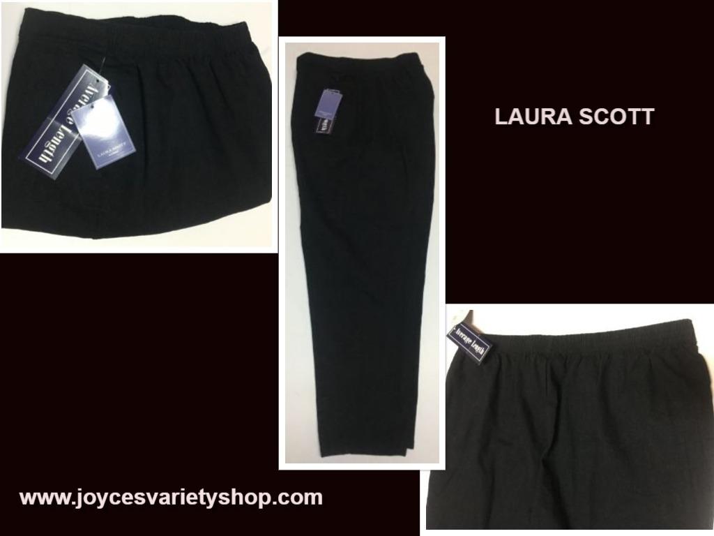 Laura scott black stretch pants sz 24w web collage