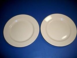 HOMER LAUGHLIN BEST CHINA RESTAURANT WARE SET OF 2 SALAD PLATES IN BEIGE - $7.43