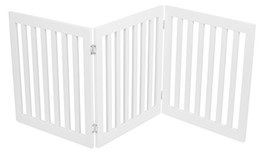 Internet's Best Traditional Pet Gate | 3 Panel | 24 Inch Step Over Fence... - $82.77