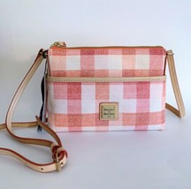Dooney & Bourke Ginger Crossbody Bag ~ Coral Gingham Quadratto Check Print NWT - $98.95