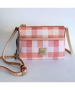 Dooney & Bourke Ginger Crossbody Bag ~ Coral Gingham Quadratto Check Pri... - $98.95