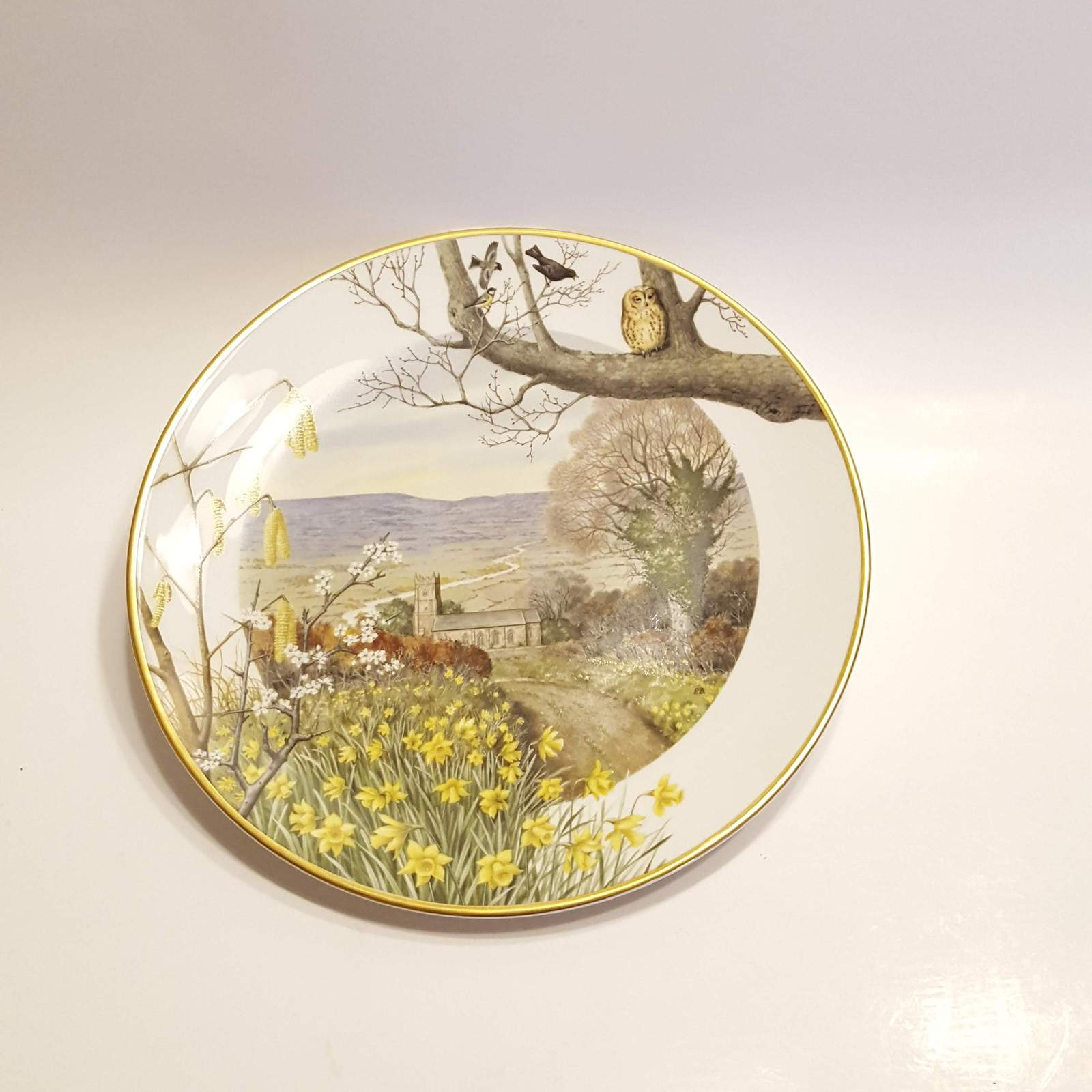 Primary image for Franklin Porcelain Plate A country church in March @1979 by Peter Banett.