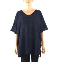 Alfani Womens Stretch Textured Poncho Sleeve Poncho Top Shirt L R@HN - $22.18