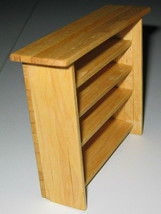 1:12 Scale Miniature Bookcase solid MAPLE wood Artisan-signed OOAK for a... - £29.20 GBP