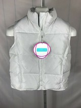 NWT GAP KIDS Girl's White Puffer Winter Unhooded Bubble Vest Sz XXL (T) - $19.79
