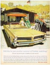 Vintage 1963 Magazine Ad Pontiac Get Your Kicks From The Trophy V-8 Catalina - $5.93