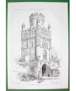 ARCHITECTURE PRINT : Germany Prussia Uengliner Tower in Stendal - $20.24