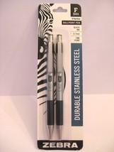 Zebra Stainless Steel Pens, Fine Point Black, 0.7mm, F301, 2 pack - $6.99