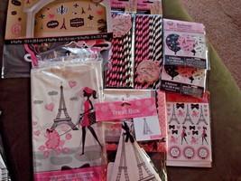 A Day In Paris Party Decorations; I Love Paris Theme Shower, Birthday De... - $4.90+
