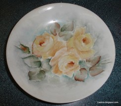 Antique BAREUTHER BAVARIA Hand Painted Collectible Rose Bowl From German... - $1.74