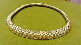 Vintage Ciner Signed Collar Choker Necklace Gold Tone - $145.00