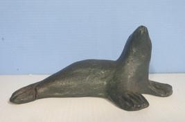 Vintage hand crafted ceramic dolphin seal figurine circa: mid 1900s unus... - $22.14